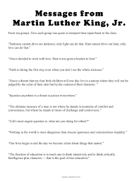 teaching seriously  today i will show my students this video of dr king s speech and explore messages he sent to us through his quotes you either of these by