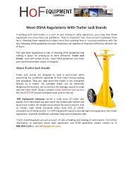 Meet OSHA Regulations With Trailer Jack Stands If working with semi-trailers is a part osha regulations trailer jack stands