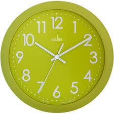 abingdon lime green wall clock 25 5cm