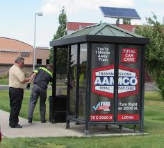 cache valley transit district officials at the bus stop at 1600 n and main st in north logan