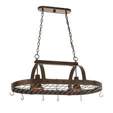 pot rack chandeliers lighting two light island chandelier pot rack in copper claret finish quality pot rack chandeliers