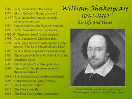 william shakespeare s works william shakespeare his life and times ppt download