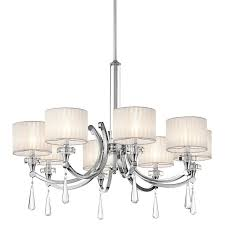 kichler 42632ch parker point single tier chandelier with 8 lights stem included 36 inches wide chrome