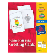 Avery Greeting Cards Avery Personal Creation Half Fold Greeting Card For Inkjet Printers 5 1 2 X 8 1 2 In White Matte Pack Of 20