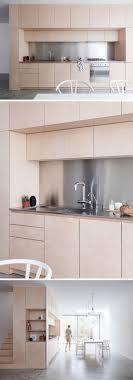 Polished Concrete Floor Kitchen Light Wood Cabinets With Stainless Steel Countertops And