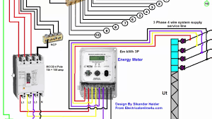 3 phase wiring installation in house 3 phase distribution board diagram urdu hindi