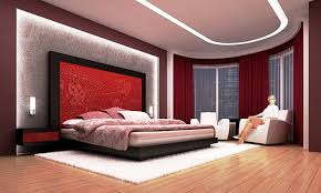 red master bedroom designs. Red Wall Headboard And Low Profile Large Size Bed On White Fur Rug Also False Ceiling Master Bedroom Designs I