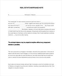 Mortgage Note Loan Instruments Promissory Note Mortgage Florida