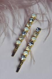 sapphire blue crystal hair pins