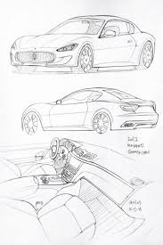 Car Drawing 160105 2012 Maserati Granturismo