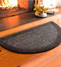 2 x 4 madrid banded half round hearth rug
