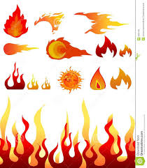 Is Fire Natural Light Design Elements Fire Flames Stock Vector Illustration Of