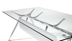 glass office furniture with black glass table top view