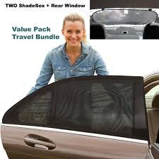 window shades for cars for baby. Unique For Premium Rear Window Sun Shade PLUS Two 2 ShadeSox Universal Fit Car  Baby Shades  Travel Kit Bundle 3 Piece For  Throughout Shades Cars D