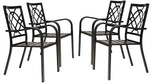 solaura patio dining chairs of 4