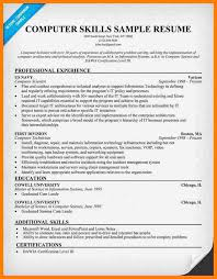 Example Of Computer Skills On Resumes 9 Computer Skills On Resume Example Memo Heading