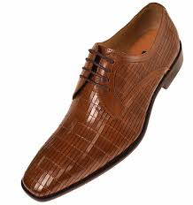 steven land mens tan pattern leather dress shoes sl752 is