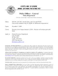 Sample Police Officer Resume Makemoney Free Law Enforcement