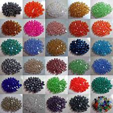 500pcs Faceted <b>bicone</b> crystal Acrylic loose 4MM 6MM <b>beads 35</b> ...