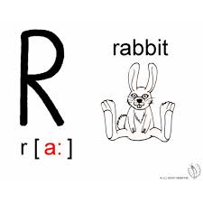 Disegno Di Lettera R Alfabeto Inglese Da Colorare Per Bambini
