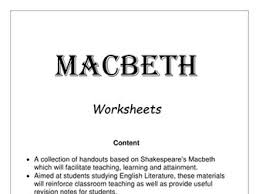 macbeth lessons activities and essays yr aged by  macbeth activities for the whole play including essays