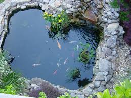 Small Picture Lawn Garden Small Creek Natural Stone Garden Pond Using Stone
