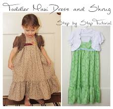 Dress Patterns For Toddlers Interesting Cat On A Limb Toddler Maxi Dress And Shrug Part 488 Of 48 Drafting