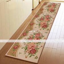 bathroom yevita peony blossom extra long kitchen runner rug home floor door bathroom rugs yevita