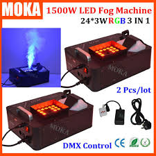 halloween lighting effects machine. 2 Pcs/lot 24pcs*3W RGB CO2 Blast Fog Machine 1500W DMX Led Effect Fogger Vertical Smoke For Halloween Decorations-in Stage Lighting From Effects