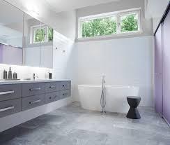 awesome grey tile bathroom