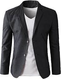 <b>Mens Sports</b> Jackets Lightweight One Button Slim Fit Solid <b>Casual</b> ...