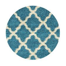 maxy home bella collection turquoise 5 ft x 5 ft round area rug