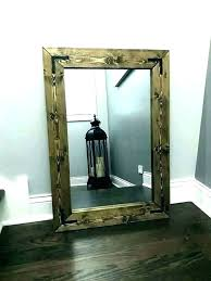 framed bathroom mirrors wood framed bathroom mirrors rustic frame wall mirror handmade stained enchanting and innovative