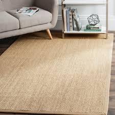 safavieh natural fiber coastal solid sisal maize linen area rug 11 x 15