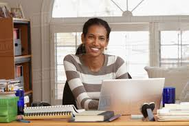 woman office furniture. Black Woman Working In Home Office Furniture A