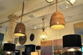 pendant lamp and rope chandelier gardens delightful screen hanging light shade pier one lighting ideas rattan