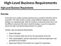 Business Requirement Example Business Requirements Functional And Non Functional