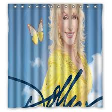 vixm home dolly parton shower curtains modern star fabric bathroom curtains with hooks 66x72 inch shower curtains