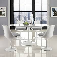 modway lippa ovalshaped dining table 60inch white amazonca home u0026 kitchen modern dining table top view s45 view