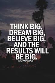 Dream big essay