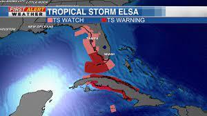 Tropical Storm Elsa nearing Cuba with ...