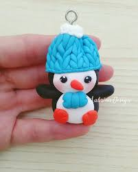 Pinguin Weihnachtsschmuck Anhänger Christbaumschmuck Christbaumschmuck Pinguin Pinguin Weihnachten Dekoration Weihnachten Fimo Miniaturen