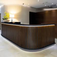 Wooden reception desk - NORDIC