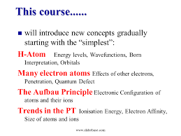 Atomic Structure and Periodic Trends - Presentation Chemistry ...