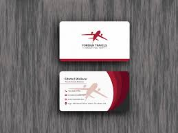 Card Design Template Travel Agency Business Card Design Template