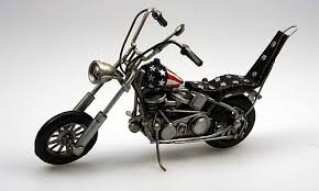 Harley Davidson Ultimate Chopper From Easy Rider In Red, White \u0026 Blue (by  Tinplate