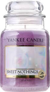 <b>Свеча</b> в стеклянной <b>банке</b> - Yankee Candle <b>Sweet</b> Nothings:купить ...