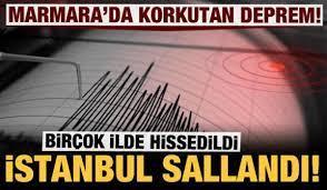 Son dakika: İstanbul'da korkutan deprem! - GÜNCEL Haberleri