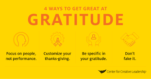 Giving Thanks Will Make You A Better Leader Center For