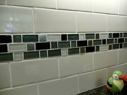 Backsplash subway tile with mosaic tile- exactly what I'm thinking for our  remodel